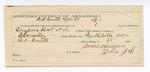 1887 April 27: Letter of certification, for employment of James Sizemore, guard; Sampson Bat et al., prisoners; B. Connelley, deputy marshal