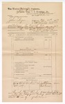 1889 June 30: Voucher, U.S. v. John Rogers, introducing spirituous liquors; includes cost of subpoena for witnesses; J.W. Salmon, deputy marshal; John Carroll, U.S. marshal; John Childers, Ind Turman, witnesses