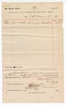 1888 July 19: Voucher, to J.N. Mayers; includes cost for recognizance record book; J.A. Williams, chief deputy; Stephen Wheeler, clerk; I.M. Dodges, deputy clerk