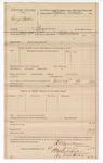 1889 July 11: Voucher, U.S. v. George Cables, bigamy; includes cost of mileage; R.B. Creekmore, deputy marshal; Stephen Wheeler, commissioner; I.M. Dodge, deputy clerk