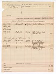 1889 June 12: Voucher, U.S. v. C.C. Peck; includes cost for mileage; R.B. Creekmore, deputy marshal; John Salmon, witness; Charles Barnhill, James B. Lee, witness in U.S. v. H. Coen et al.; Jury summons served to: Neal K. Pryor, George Lindsey, Mathes Ault, Frank Cane, John Ulner, James R. Blunt, C.H. Kaigler