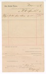 1889 May 8: Voucher, to D.B. Sparks; includes cost for 36 pairs of shoes; John Carroll, U.S. marshal
