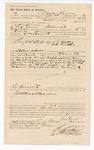 1889 May 15: Voucher, to Charles Vann, of Fort Smith, Arkansas, for assisting S.W. Bond, deputy marshal, in U.S. v. A.J. Mattix and U.S. v. William Brown; John Carroll, U.S. marshal; signed by I.C. Parker, judge; Stephen Wheeler, commissioner