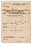 1889 June 30: Voucher, U.S. v. Foot Dillard et al., murder; includes cost for warrant and mileage; John Swain, deputy marshal; One Wyrick, arrested; Stephen Wheeler, commissioner