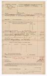 1889 July 26: Voucher, U.S. v. Foot Dillard, murder; includes cost of mileage and feeding prisoners; John Swain, deputy marshal; Stephen Wheeler, commissioner; George Elkins, posse comitatus; T.E. Silly, guard