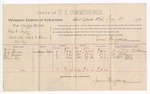 1889 May 11: Voucher, U.S. v. Charles E. Taylor, assault with intent to kill; includes cost of per diem and mileage; R.L. Thomas, W.J. Benson, William Lee, witnesses; James Brizzolara, commissioner; Jacob Yoes, U.S. marshal