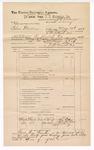 1889 June 30: Voucher, U.S. v. Silas Matterson, larceny; includes cost of mileage; J.W. Salmon, deputy marshal; John Carroll, U.S. marshal; Thomas Blair, Bill Vandrum, John Emery, witnesses; James Brizzolara, commissioner