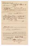 1889 May 29: Voucher, to R.B. Lazanley, of Fort Smith, Arkansas, for assisting J.W. Salmon, deputy marshal, in arresting Silas Matterson; James Brizzolara, commissioner; Stephen Wheeler, clerk; I.M. Dodge, deputy clerk