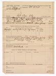 1889 July 24: Voucher, U.S. v. John Stafford, retail liquor dealer; John Swain, deputy marshal; Matt Cook, posse comitatus; includes cost of subsistence for self and horse