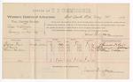 1889 May 15: Voucher, U.S. v. Silas Matterson, larceny; includes cost of per diem and mileage; Thomas Blair, J.L. Ewing, William Vandiver, witnesses; Jacob Yoes, U.S. marshal; James Brizzolara, commissioner