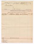 1889 June 10: Voucher, U.S. v. Frank Bain, larceny; B.T. Hughes, deputy marshal; includes cost for subpoena for witness; Marion Holmes, witness