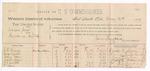 1889 May 21: Voucher, U.S. v. Jameson Jones, murder; includes cost of per diem and mileage; Charles H. Murray, George Wilson, Mary Solon, Joseph Dozier, J.J. Winton, Zachariah Davis, B.F. Hodges, William P. Nichols, John W. Weeks, Jenkins M. Winton, witnesses; Jacob Yoes, U.S. marshal; William H.H. Clayton, district attorney