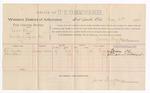 1889 May 21: Voucher, U.S. v. Sam Glenn, introducing spiritous liquor; includes cost of per diem and mileage cost; W.C. Wickle, John Allen, witnesses; Jacob Yoes, U.S. marshal; J.C. Pettigrew, witness of signature; James Brizzolara, commissioner