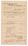 1889 June 30: Voucher, U.S. v. Sam Gamble, murder; Charles Barnhill, deputy marshal; James Brizzolara, commissioner; Dan McClich, W.C. Wallace, Frank Medins, Will Lufins, witnesses; includes cost of mileage