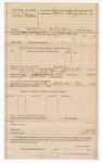 1889 July 24: Voucher, U.S. v. Robert Gulchmis, violating postal laws; ; includes cost of food and mileage; John Swain, deputy marshal; James Brizzolara, commissioner; Mat Cook, posse comitatus
