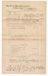1889 June 30: Voucher, U.S. v. Lom Folsom, introducing spiritous liquor; J.W. Salmon, deputy marshal; John Carroll, U.S. marshal; E.S. Burman, witness