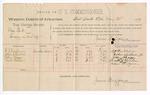 1889 May 24: Voucher, U.S. v. Clay Peek, larceny; includes cost of per diem and mileage; W.J. William, John Childers Jr., John Skaggs, Scott Henson, witnesses; Jacob Yoes, U.S. marshal; James Brizzolara, commissioner