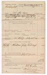 1889 July 31: Voucher, U.S. v. Swinney Bell; includes cost of mileage; B.T. Hughes, deputy marshal; Jacob Yoes, U.S. marshal; Newt Hugh, witness; James Brizzolara, commissioner; Stephen Wheeler, clerk; I.M. Dodge, deputy clerk
