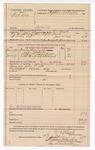 1889 August 23: Voucher, U.S. v. Bob Cox, larceny; includes cost of mileage, subsistence, lodging and horse feed; D.V. Rusk, deputy marshal; Jacob Yoes, U.S. marshal; Stephen Wheeler, commissioner