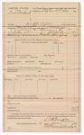 1889 July 17: Voucher, U.S. v. Dock Newland, introducing spiritous liquor; includes cost of mileage; S.P. McLaughlin, deputy marshal; Jacob Yoes, U.S. marshal; Stephen Wheeler, commissioner