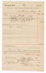 1889 July 1: Voucher, to Alexander May; includes cost for services rendered as jailer; Jacob Yoes, U.S. marshal
