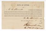 1889 June 1: Oath of Office, of G.M. Stinnett, U.S. marshal; Stephen Wheeler, clerk; J.M. Dodge, deputy clerk