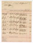 1889 June 10: Voucher, U.S. v. Robert Stephens; John Swain, deputy marshal; Willis Jacobs, Robert Love, One Blackwell, witnesses; J.A. Washington, Clay Mathers, W.T. Slaufield, Bud White, witnesses in U.S. v. Pete Jones et al.; Sam Morgan, Harve Sparks, witnesses in U.S. v. Ed Bert et al.; T.J. Hall, Charles Frederick, Allen Ray, James M. Stovall, witnesses in U.S. v. William Hall; S.J. Lindsey, Dr. McCartey, William Williams, witnesses in U.S. v. Bud Tandern; Emmit Harmon, Ike Harmon, witnesses in U.S. v. John Dikes