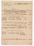 1889 July 3: Voucher, U.S. v. Bill Donegan, larceny; includes cost of mileage and subsistence for self and horse, feeding prisoner; J.M. Ennis, deputy marshal; Stephen Wheeler, commissioner; Joe Keen, One Kelly, Bill Anderson, witnesses