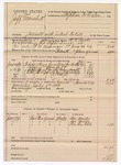 1889 July 8: Voucher, U.S. v. Jeff marshal, assault with intent to kill; includes cost of mileage, feeding prisoner, lodging and horse feed; D.V. Rusk, deputy marshal; Stephen Wheeler, commissioner ; One Moody, Mrs. Moody, Tim Carlisle, witnesses