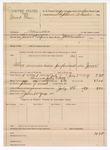 1889 December 31: Voucher, U.S. v. Newt Gan, murder; includes cost of mileage and feeding prisoner; J.H. Mershon, deputy marshal; Stephen Wheeler, commissioner; John W. Yoes, posse comitatus; attached, voucher, U.S. v. Joe James, assault with intent to kill