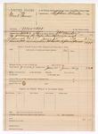 1889 July 9: Voucher, U.S. v. Newt Gan, murder; includes cost of mileage and feeding prisoner; J.H. Mershon, deputy marshal; Stephen Wheeler, commissioner; John W. Yoes, posse comitatus; attached, voucher, U.S. v. Joe James, assault with intent to kill