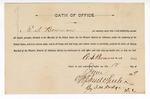 1889 June 12: Oath of Office, sworn to by E.S. Bowman, U.S. Marshal; Stephen Wheeler, clerk; J.M. Dodge, deputy clerk