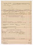 1889 June 30: Voucher,  U.S. v. Alex Harjo, introducing spiritous liquor; includes cost of mileage and feeding prisoner; S.P. McLaughlin, deputy marshal; Stephen Wheeler, commissioner; Little Boon, Joe Bear, Daniel Lewis, witnesses
