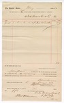 1889 June 18: Voucher, to John Page, of Drake Hardwood Lumber Co.; includes cost for load of saw dust delivered to U.S. courthouse; S.A. Williams, U.S. marshal; R.B. Creekman, witness of signature
