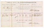 1889 June 18: Voucher, U.S. v. Ben Thompson, larceny; includes per diem and mileage cost; Oliver French, Jimison Bell, witnesses; Jacob Yoes, U.S. marshal; Stephen Wheeler, commissioner