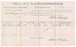 1889 June 19: Voucher, U.S. v. Asa Hargraves, larceny; includes cost of per diem and mileage; Frank Roark, witness; Jacob Yoes, U.S. marshal; Stephen Wheeler, commissioner