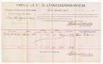 1889 June 19: Voucher, U.S. v. Asa Hargraves, larceny; includes cost of per diem and mileage; Oscar F. Adair, witnesses; Jacob Yoes, U.S. marshal; Stephen Wheeler, commissioner