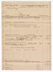 1889 July 12: Voucher, U.S. v. Nancy George, bigamy; includes cost of mileage and feeding prisoner; B.T. Hughes, deputy marshal; Stephen Wheeler, commissioner