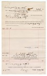 1889 July 1: Voucher, to James & Carbary; includes cost for services rendered as stenographer; Jacob Yoes, U.S. marshal; Stephen Wheeler, clerk; I.M. Dodge, deputy clerk