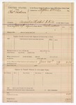 1889 June 26: Voucher, U.S. v. Charles Landrum, assault with intent to kill; includes cost of mileage; R.B. Creekmen, deputy marshal; Stephen Wheeler, commissioner