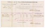 1889 June 20: Voucher, U.S. v. Samuel Argo, larceny; includes cost of per diem and mileage; James B. Peterson, Wilson O. Bruton, John W. Breedlove, witnesses; Jacob Yoes, U.S. marshal; Stephen Wheeler, commissioner
