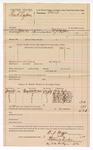 1889 July 9: Voucher,  U.S. v. Frank Cogburn; W.J. Hopper, deputy marshal; Jacob Yoes, U.S. marshal; Mike Cogburn, Martha Cogburn, Andrew Cogburn, Melburn Cogburn, Rachel Cogburn, Reuben Carter, witnesses; includes cost of mileage; Stephen Wheeler, clerk; I.M. Dodge, deputy clerk