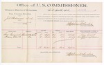1889 June 22: Voucher, U.S. v. J.S. Stedmon et al., assault with intent to kill; includes cost of per diem and mileage; Sam Gammel, Henry Clark, witnesses; Jacob Yoes, U.S. marshal; Stephen Wheeler, commissioner