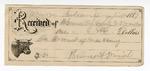 1889 July 13: Voucher, U.S. v. John Black, larceny; B. Connelley, deputy marshal; Jacob Yoes, U.S. marshal; Isaac Mede, Sarah Mede, R.B. Cox, witnesses; Richard Banks, posse comitatus; includes cost of ferriage, mileage and horse shoes; E.B. Harrison, commissioner; Stephen Wheeler, clerk; I.M. Dodge, deputy clerk