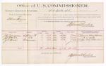 1889 June 24: Voucher, U.S. v. Allen Hines, larceny; J.C. Longacre, J.W. Meeks, Z.T. Hines, witnesses; Jacob Yoes, U.S. marshal; Stephen Wheeler, commissioner; includes cost of per diem and mileage