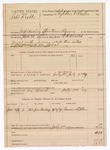 1889 July 3: Voucher, U.S. v. Robert Krebbs, introducing spiritous liquors; W.H. Arnold, deputy marshal; Stephen Wheeler, commissioner; Garris Stephens, witness; includes cost of mileage and feeding prisoners