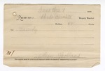 1889 July 11: Voucher, U.S. v. Bill Davidson and Bill Shaver, introducing spiritous liquors ; includes cost of ferriage, mileage and feeding prisoners; Charles Barnhill, deputy marshal; Stephen Wheeler, commissioner