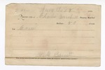 1889 July 31: Voucher, U.S. v. David Cole, assault with intent to kill; includes cost of mileage and corn for horse; Charles Barnhill, deputy marshal; Jacob Yoes, U.S. marshal; Stephen Wheeler, commissioner