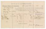 1889 June 28: Voucher, U.S. v. Elilza Mims, assault with intent to kill; Gus Taylor, Samuel Quinn, Annie Hall, Abbie Macklin, witnesses; John Carroll, U.S. marshal; James Brizzolara, commissioner