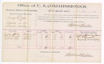 1889 June 29: Voucher, U.S. v. George W. Cabel, bigamy; includes cost of per diem and mileage; Josephine Kables, William P. Tarwater, Bunkhead Upps, witnesses; Stephen Wheeler, commissioner